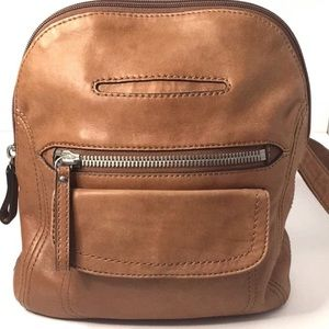 Fossil Long Live Vintage Leather Backpack purse